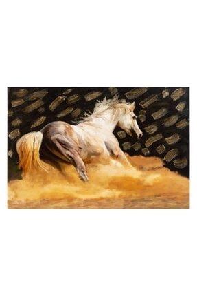 Mudo Concept Gold Horse Varaklı Kanvas Tablo 60x90cm