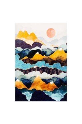 Mudo Concept Colorful Mountaıns Dokulu Kanvas Tablo 60x90cm