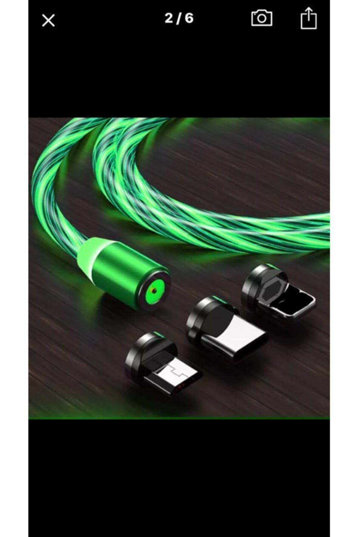 BİTERSE Iphone Işıklı Hareketli Manyetik Mıknatıslı Şarj Aleti Sarj Kablosu 1