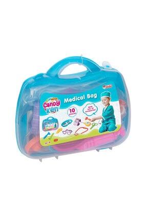 Fen Toys-Dede Dede Oyuncak 01923 Doktor Seti Candy Çantalı 10 Parça
