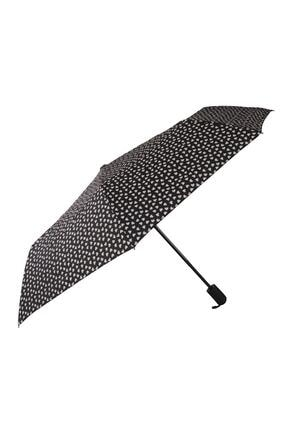 TREND Tam Otomatik Şemsiye Kalp Desenli Beyaz 6639