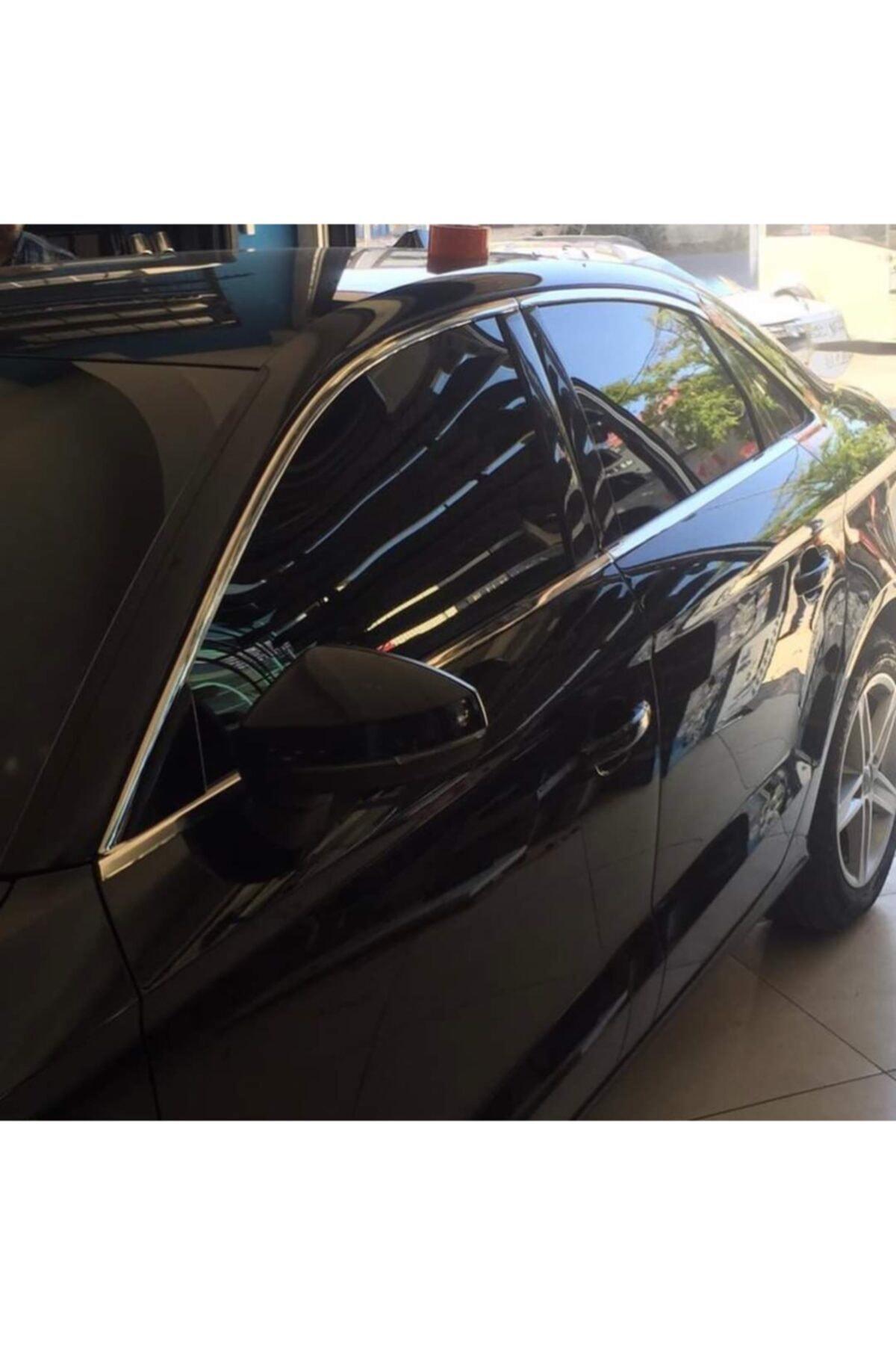 emrgarage Audi A3 Sedan 2013+krom Cam Çerçevesi Paslanmaz Krom 1