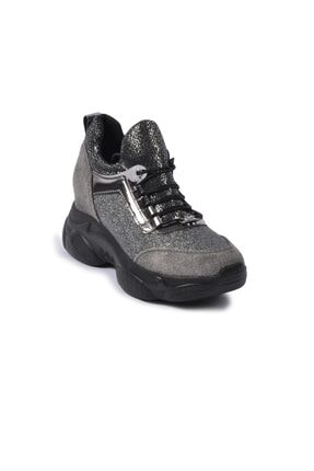 Pierre Cardin Kadın Gümüş Renk Bağcıklı Spor Bot Ayakkabı Pc-30398