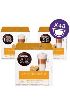 Nescafe Dolce Gusto Macchıato Kapsül Kahve 16 Adet X 3 Kutu