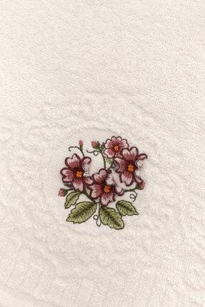Fiesta Sardunya Çiçek Nakışlı 2li Mutfak Havlusu 30x50