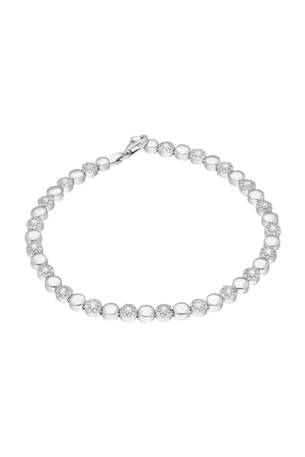 Chavin Su Yolu Halkalar Pırlanta Montür Taşlı Gümüş Bileklik Ee43 1