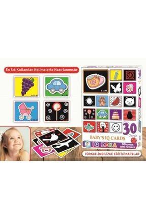 MerCan Toys Bebeğimin Iq Zeka Eğitici Kelime Kartları 30 Görsel Parça