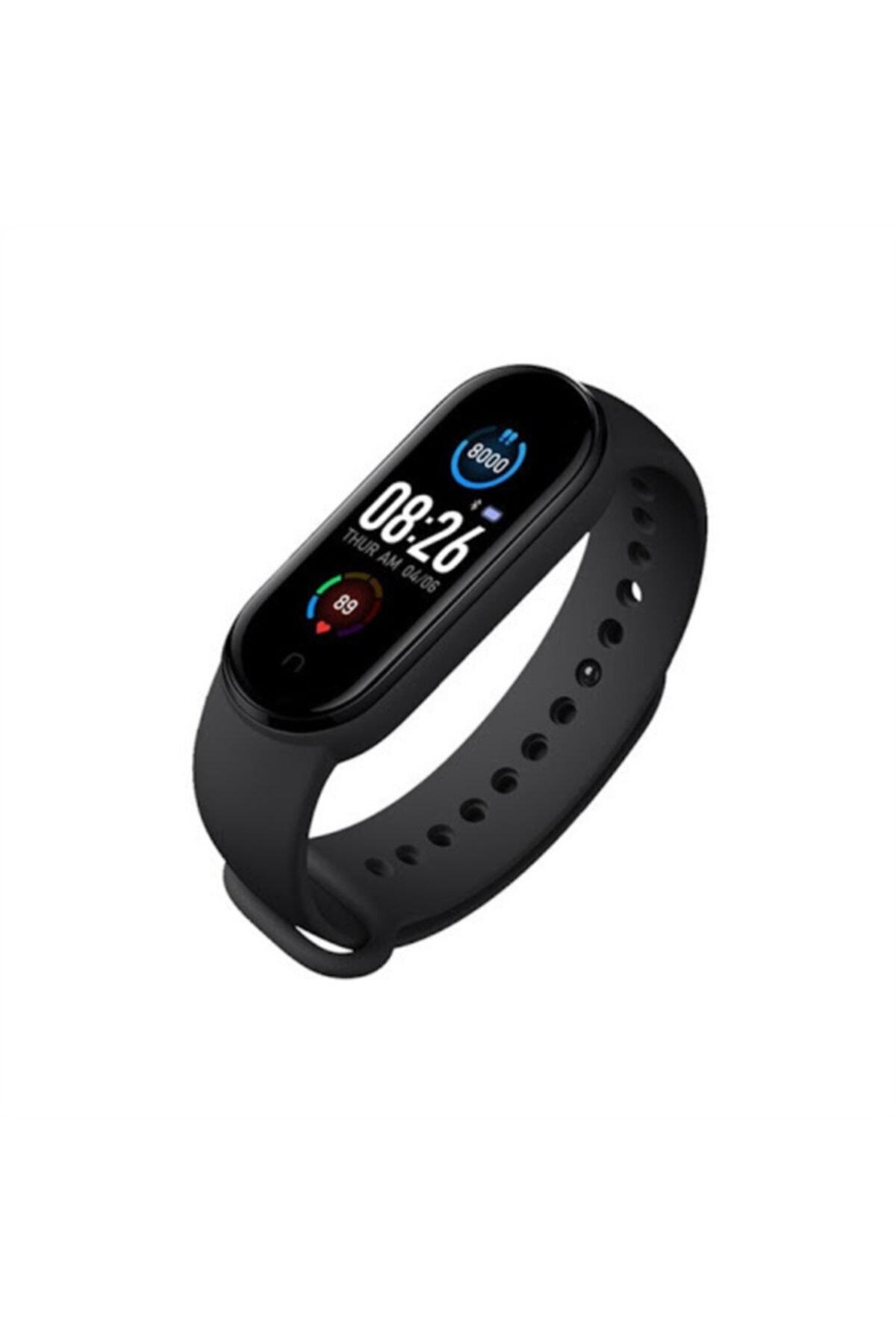 M5 Smart Bracelet M5 Akıllı Bileklik Saat Adım Sayar Ateş Nabız Ölçer Facebook Uyku Yürüyüşü Spor 1