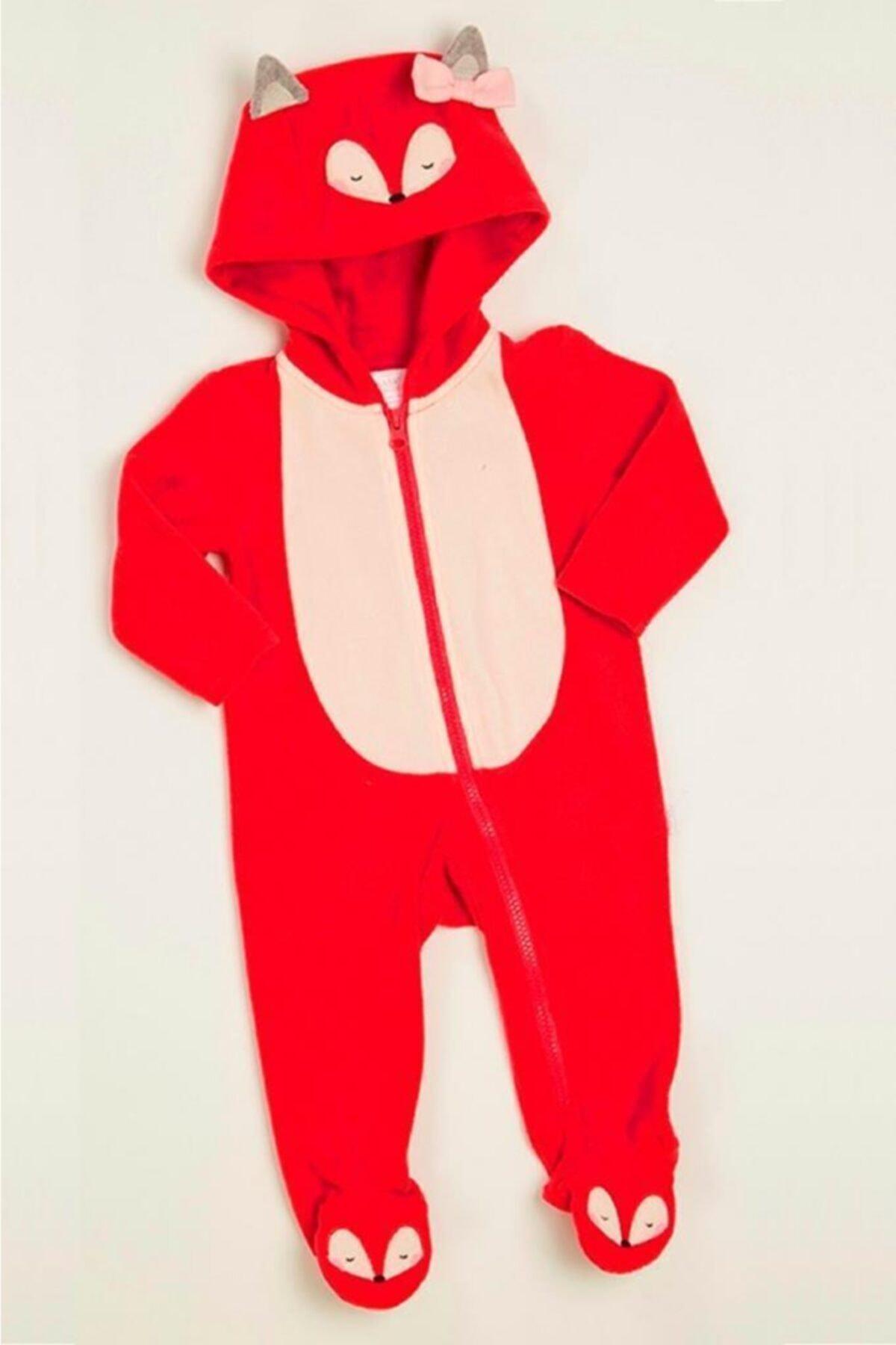 Wonder Kıds Wonder Kids Kız Bebek Vişne Renkli Astronot Tulum Mk20aw2069 1