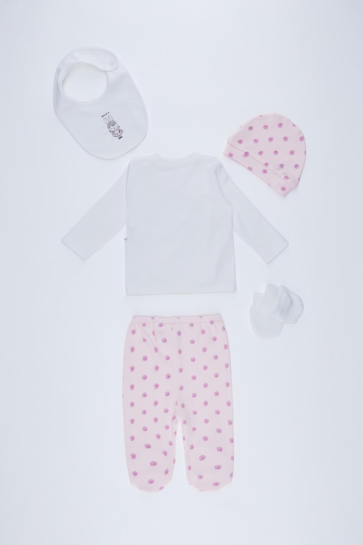 DeFacto Kız Bebek Yeni Doğan 5'li Hastane Çıkış Takımı 2