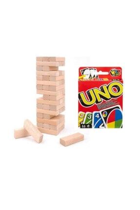 Hobi Eğitim Uno Ve Jenga 54 Parça Denge Oyunu