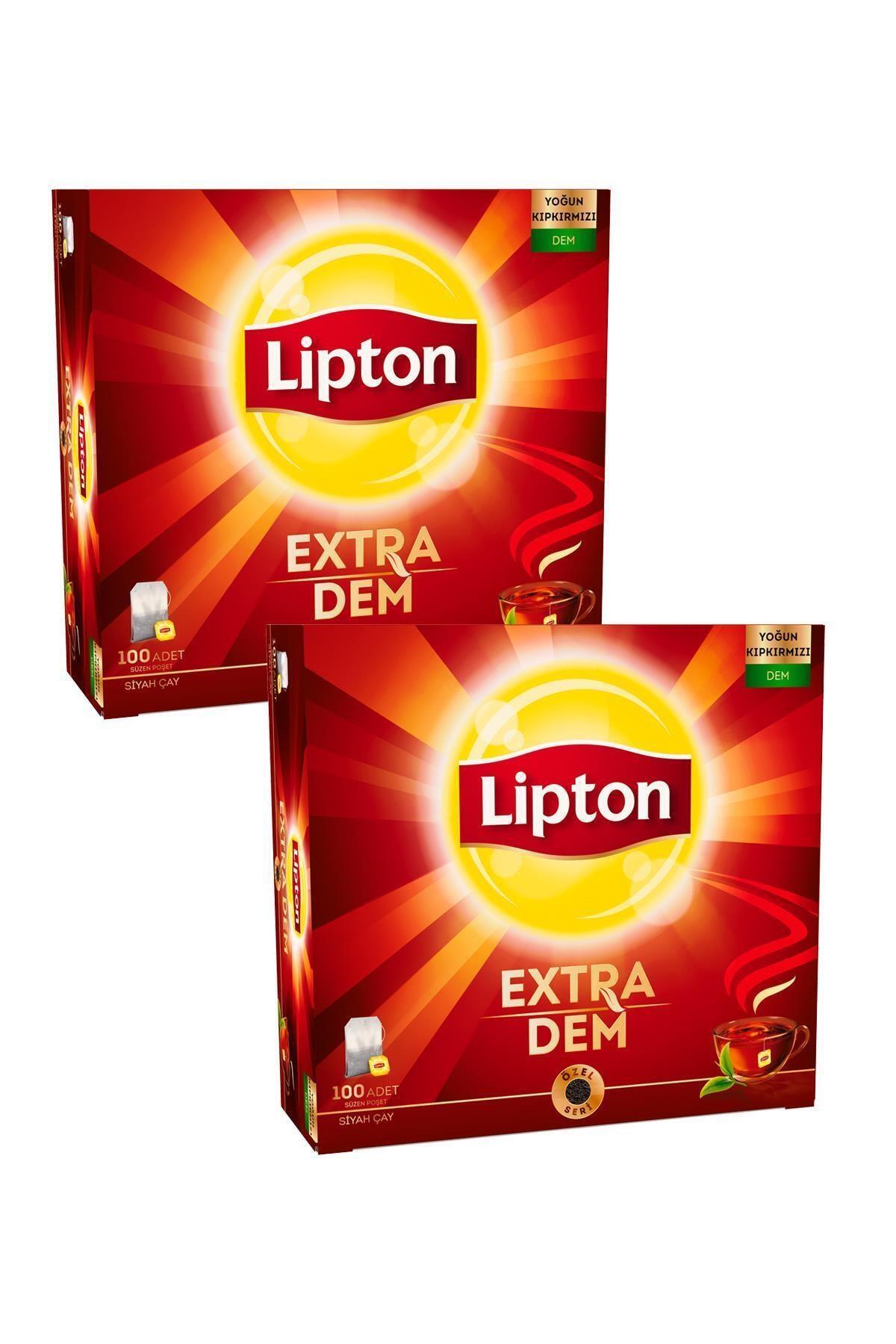 Lipton Extra Dem Bardak Poşet Çay 100'lü X 2 Adet 1