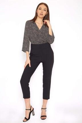 Chima Kadın Siyah Kemeri Geniş Pantolon