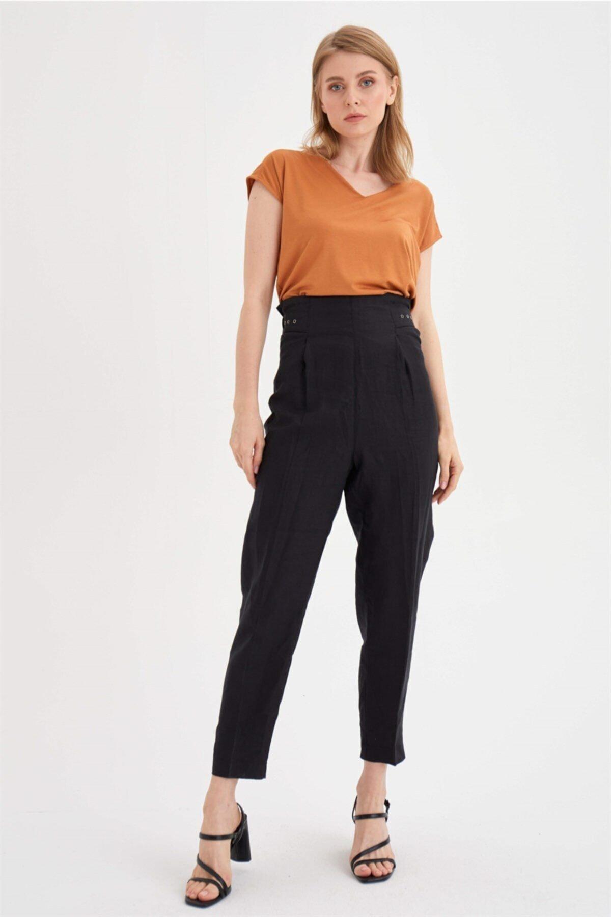 Chima Kuşgözü Detaylı Pantolon 1