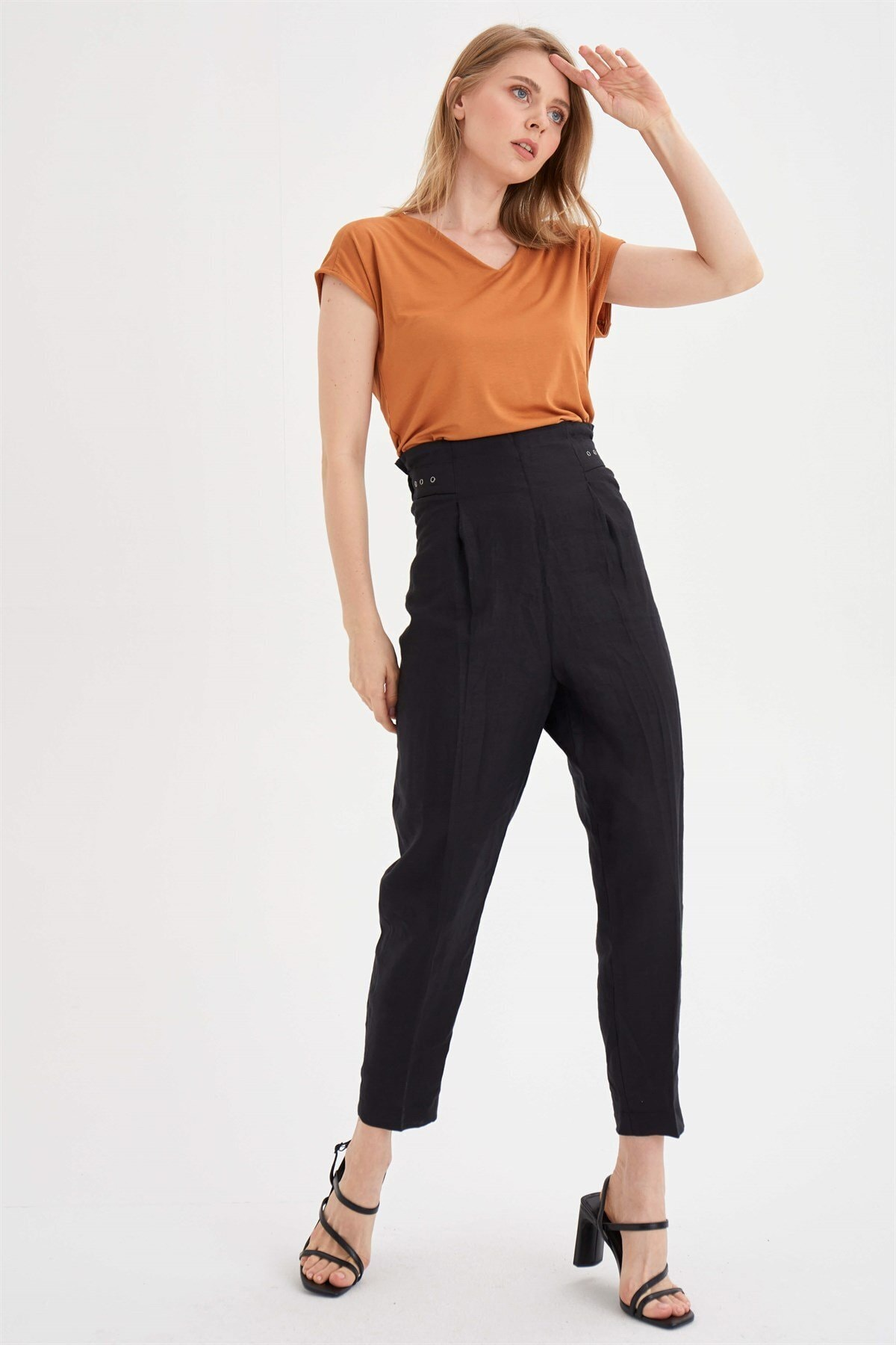 Chima Kuşgözü Detaylı Pantolon 2