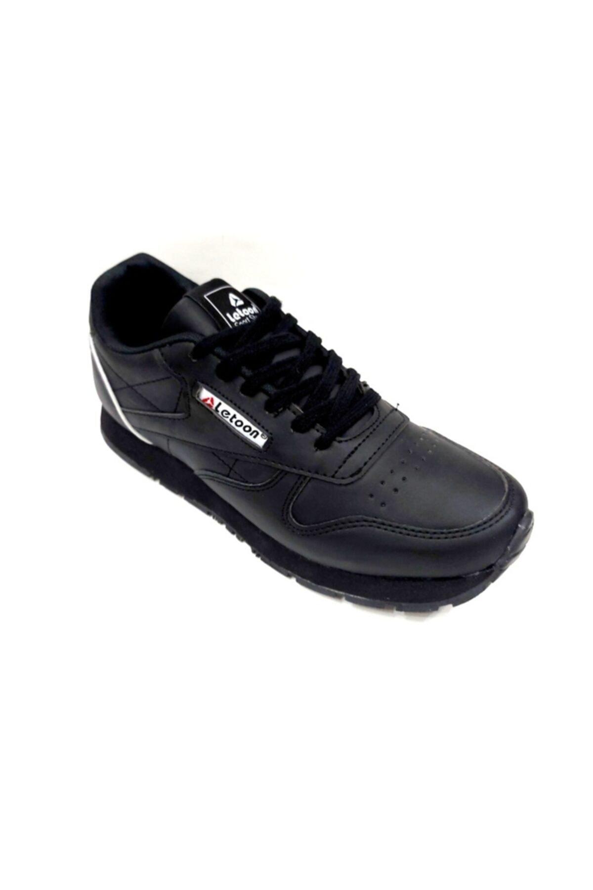 LETOON Erkek Siyah Comfort Spor Ayakkabı 2