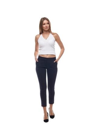 EVS WOMAN Kadın Lacivert Bilek Boy Basic Pantolon