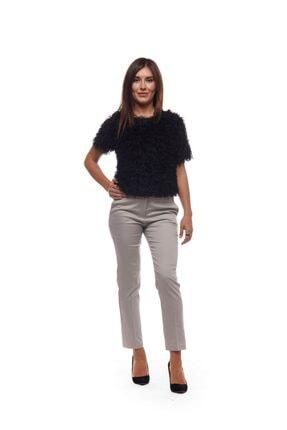 EVS WOMAN Kadın Gri Klasik Bilek Boy Pantolon