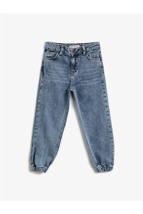 Koton Kids Kız Çocuk Orta Indigo Jeans 1YKG47212MD