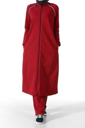 ALLDAY Kırmızı-1 Şeritli Uzun Eşofman Takımı