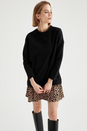 DeFacto Puantiyeli Volanlı Etek Detaylı Sweat Elbise