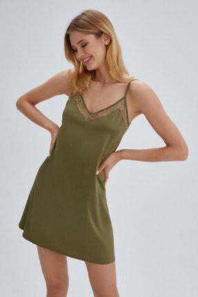 Dagi Kadın Nefti Yeşil Jannıfer Askılı Gecelik