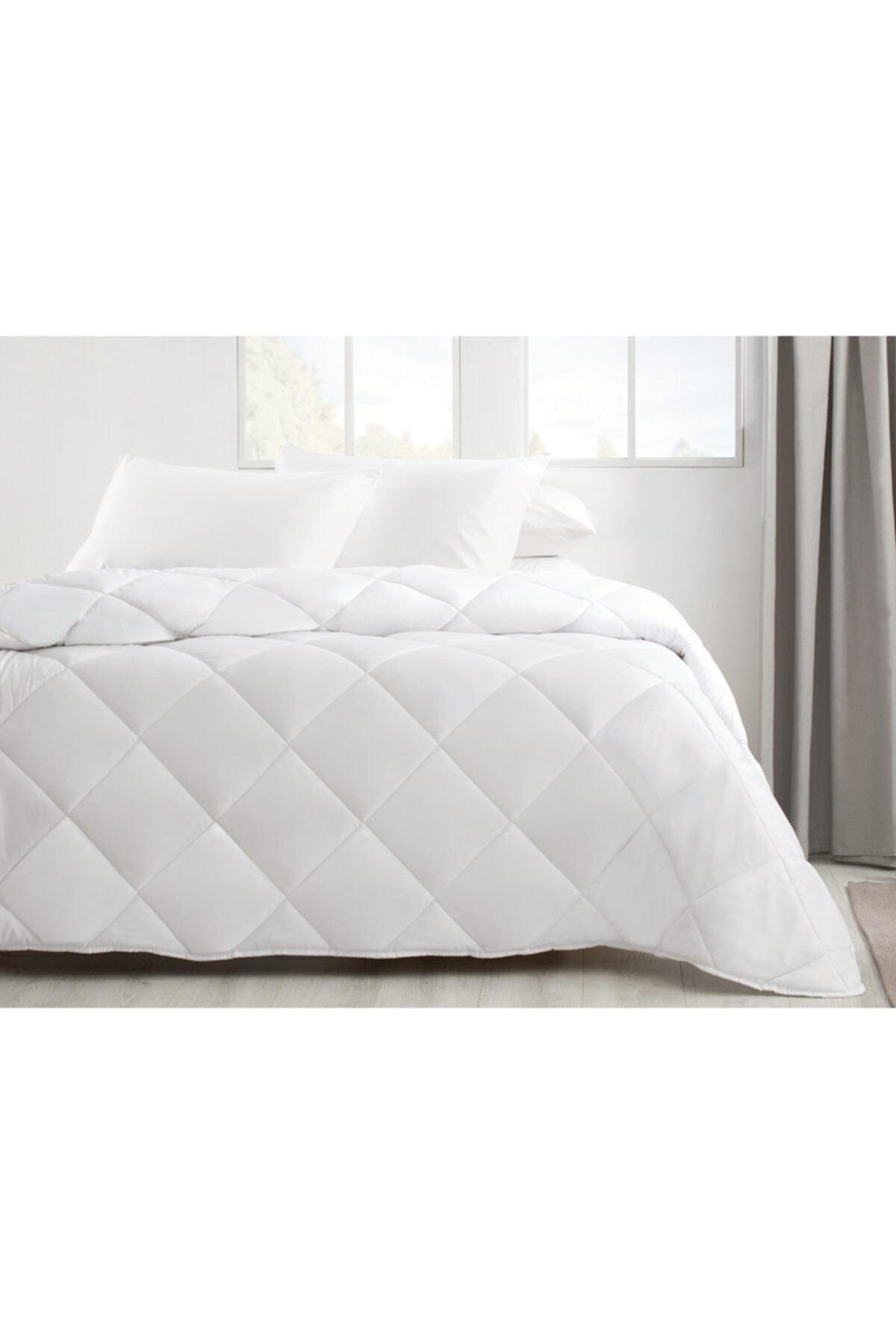 English Home Siesta Mikrofiber Beyaz Çift Kişilik Yorgan 195x215 cm 1