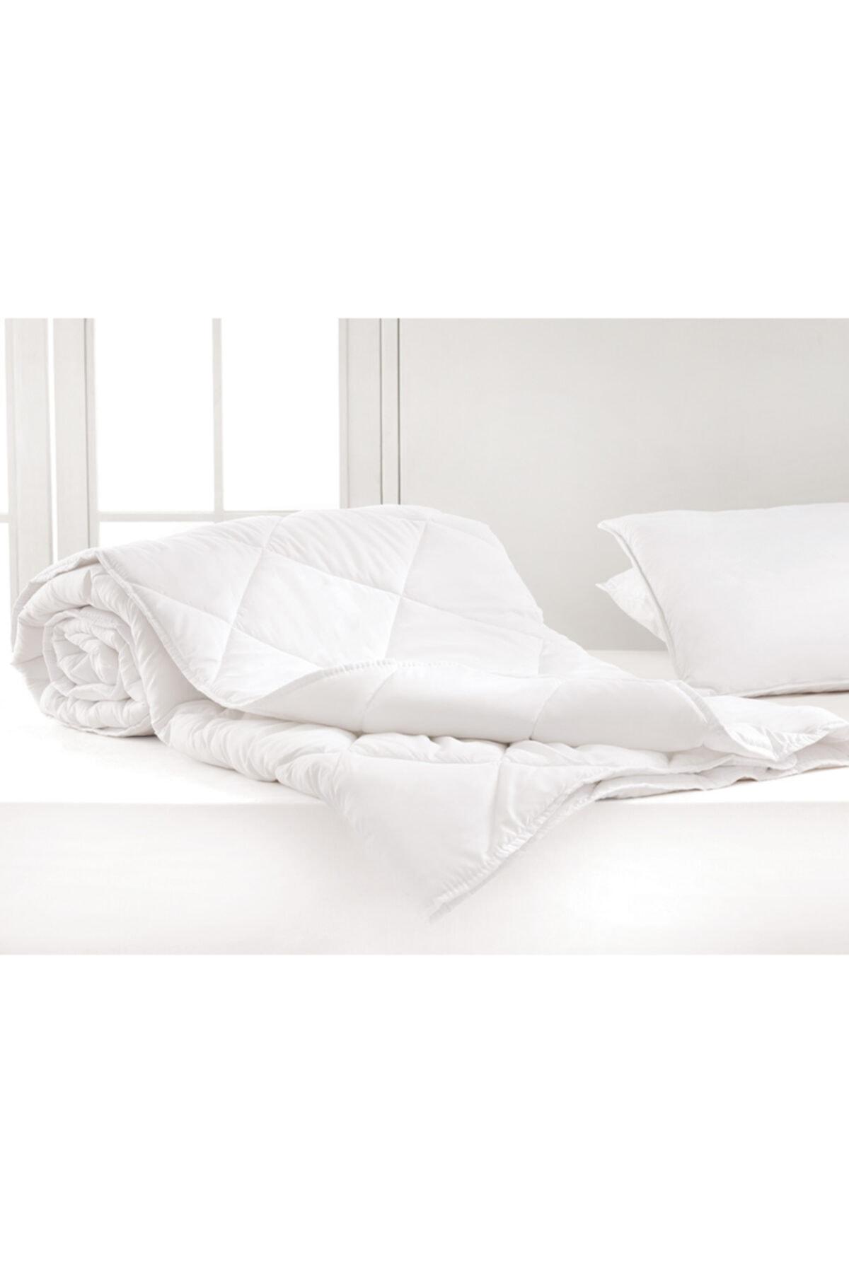 English Home Siesta Mikrofiber Beyaz Çift Kişilik Yorgan 195x215 cm 2