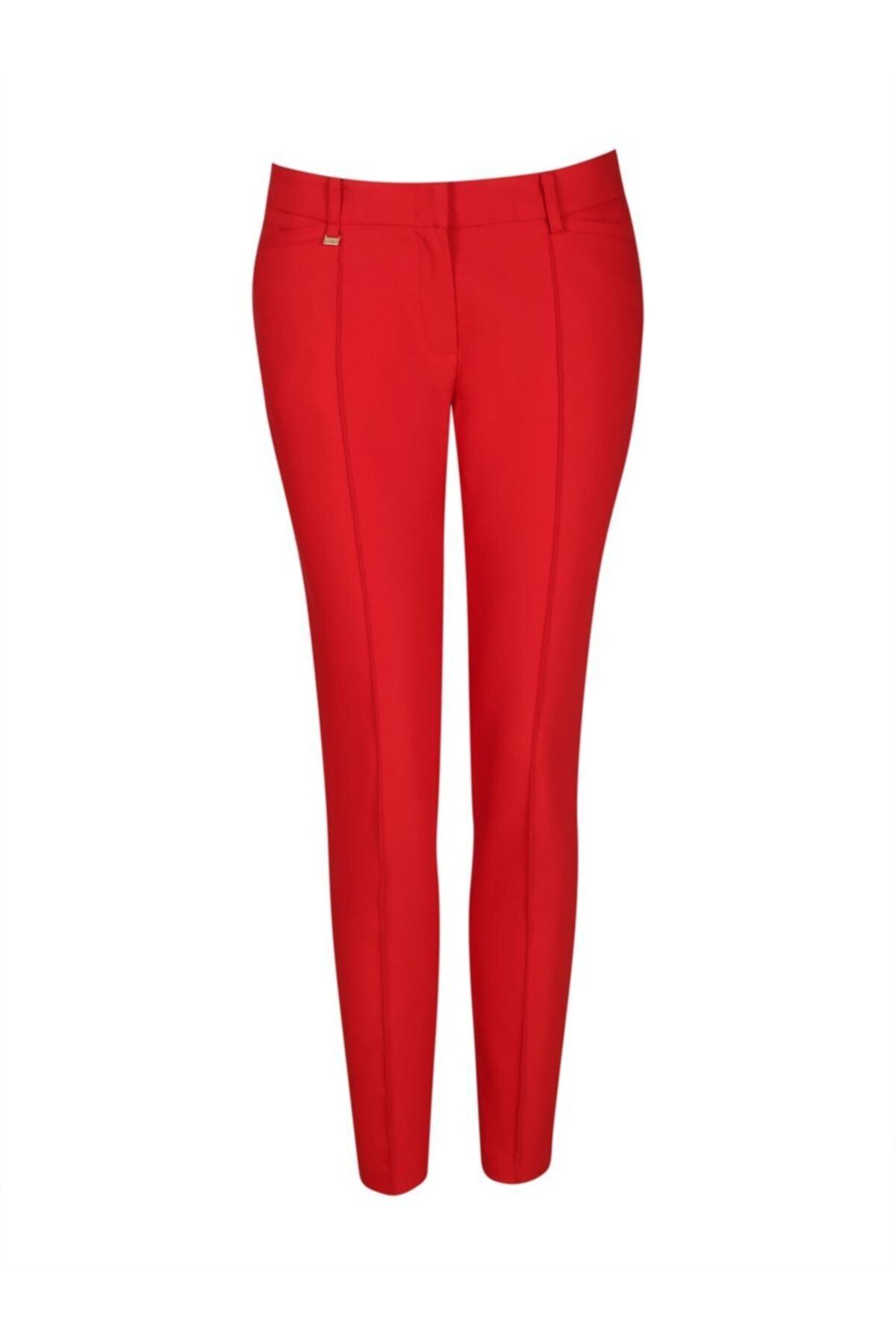 Chima Kadın Kırmızı Z Cep Pantolon 2