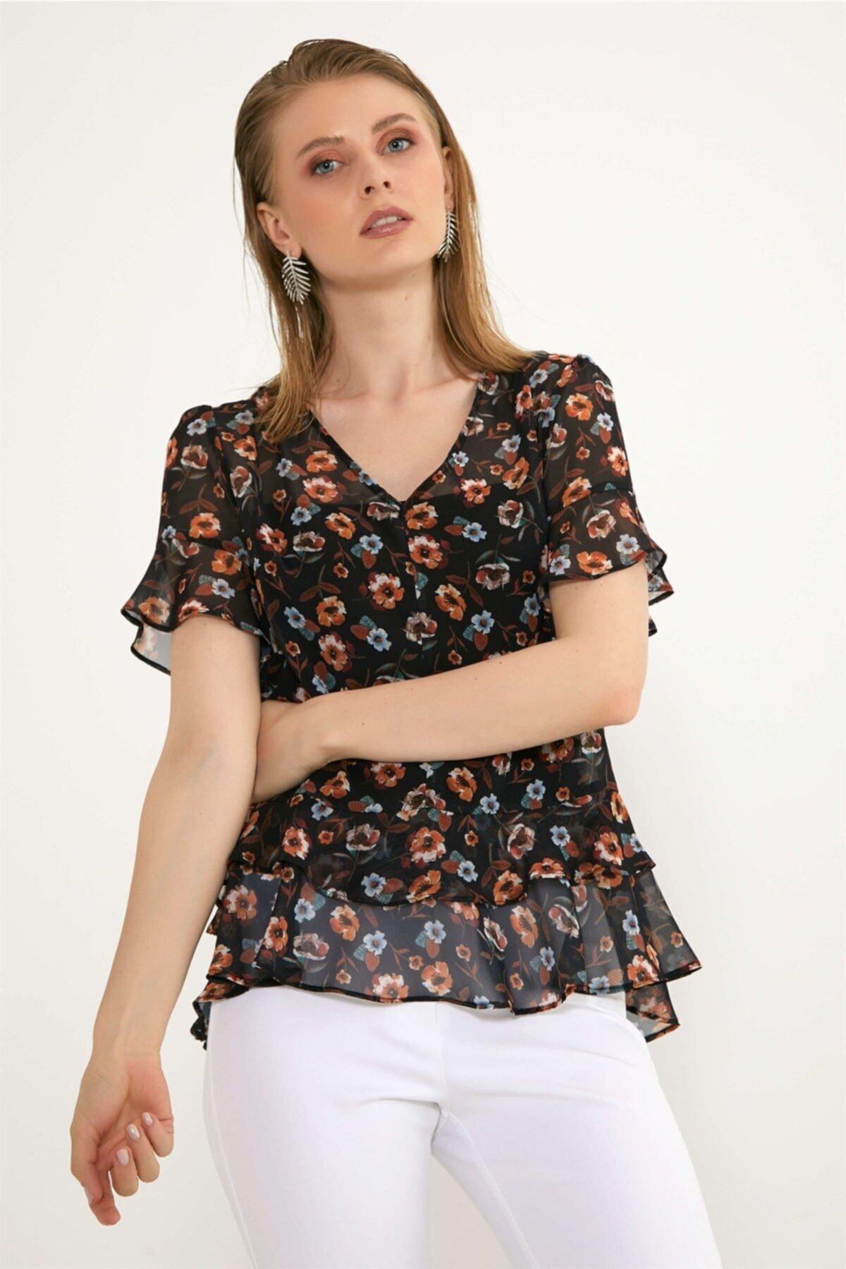 Chima Eteği Volanlı Bluz 1