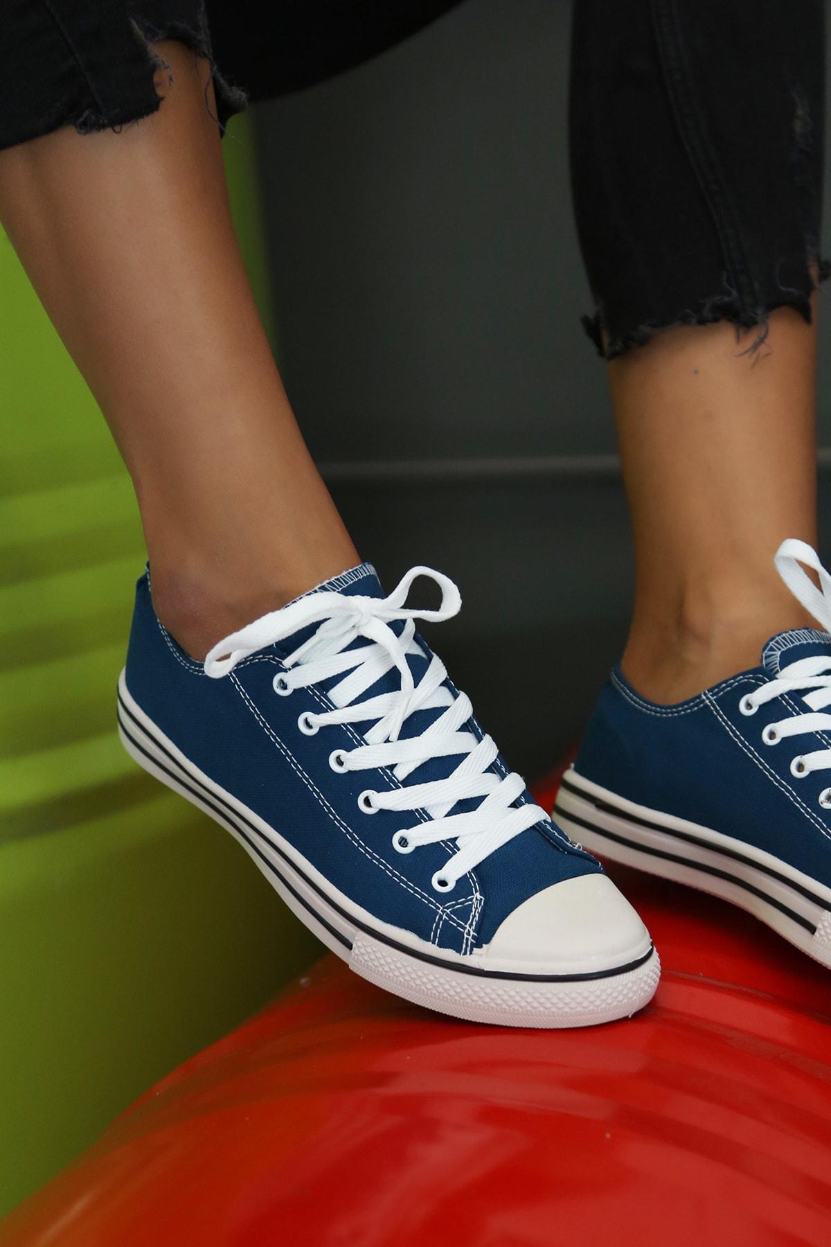 Ayakkabı Modası Kadın Mavi Ayakkabı M9999-19-100165R 1