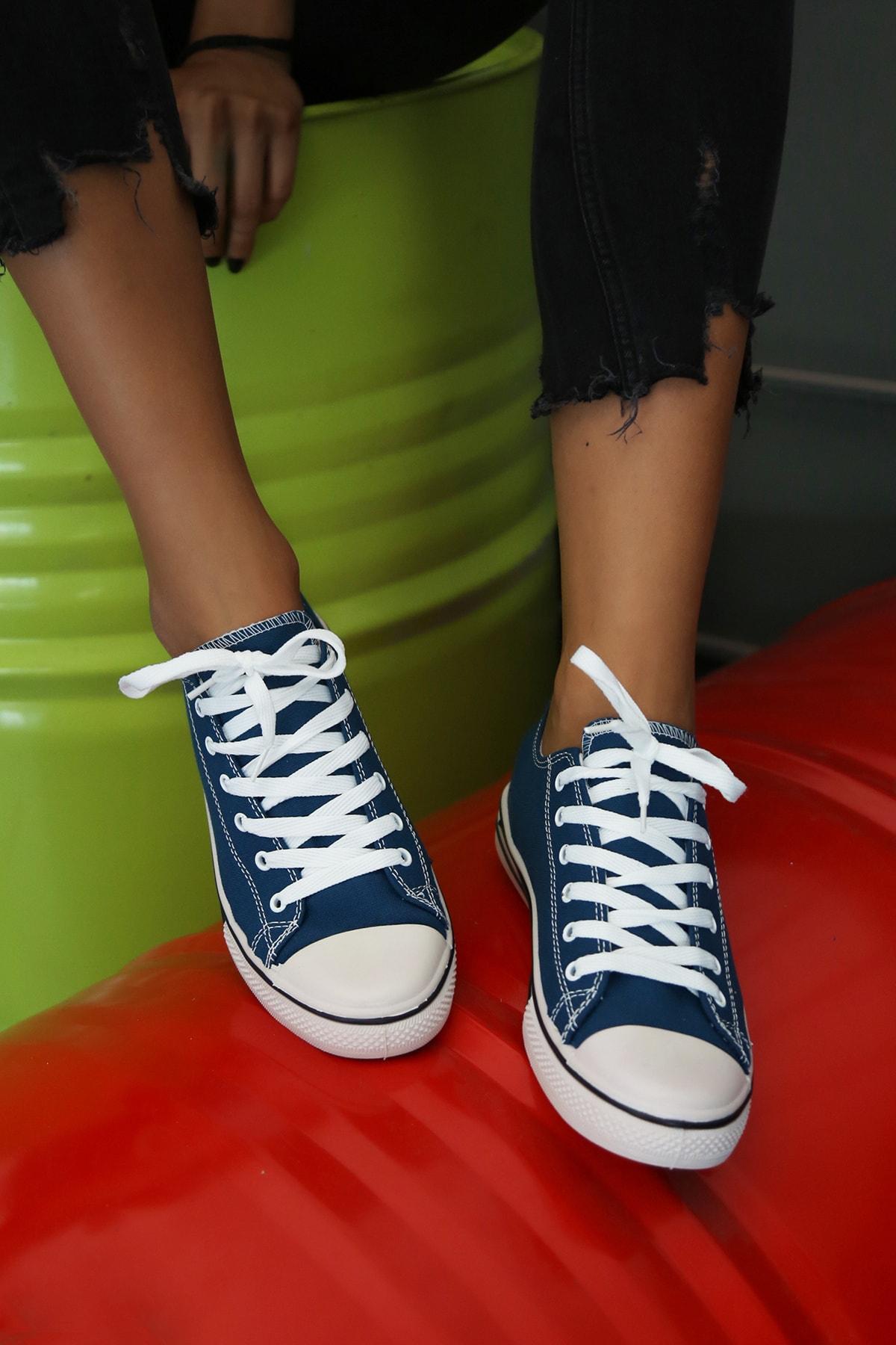 Ayakkabı Modası Kadın Mavi Ayakkabı M9999-19-100165R 2