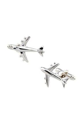 Chavin Erkek Gümüş Uçak Çelik Kol Düğmesi Cp12