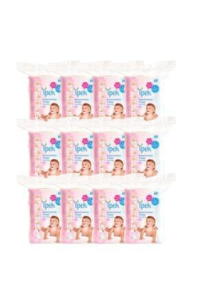 İpek Maxi Bebek Temizleme Pamuğu 60'lı 12 Paket