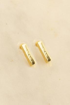 Soa Jewellery Külçe Figürlü Altın Kaplama Küpe