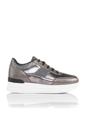 İnci Kadın Bronz Vegan Baskı Bağcıklı Klasik Spor Ayakkabı -3029