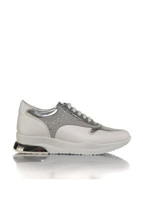 İnci Kadın Beyaz Vegan Cilt Bağcıklı Klasik Spor Ayakkabı -i3024