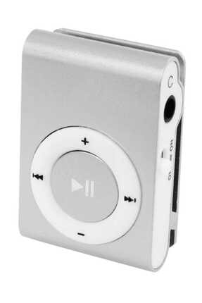 Kensa Mini Mp3 Çalar Micro Sd Kart Girişli Müzik Çalar + Kulaklık Mp3 Gri