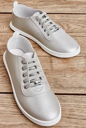 Bambi Gümüş Kadın Casual Ayakkabı K01543400109