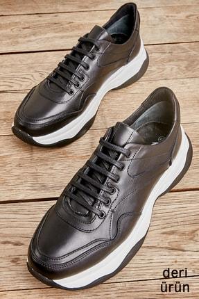 Bambi Hakiki Deri Siyah Erkek Sneaker L1629946041