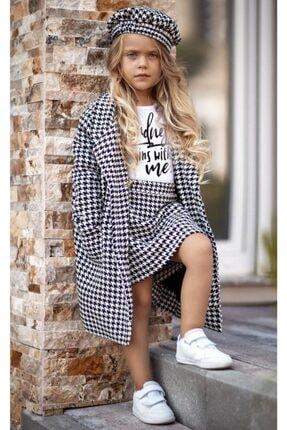 Riccotarz Kız Çocuk Bellissimo Siyah-beyaz Kazayağı Etekli Takım
