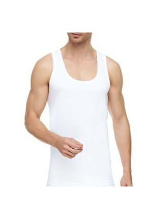 Tutku Erkek Beyaz 6 Adet Pamuklu Penye Askılı Atlet