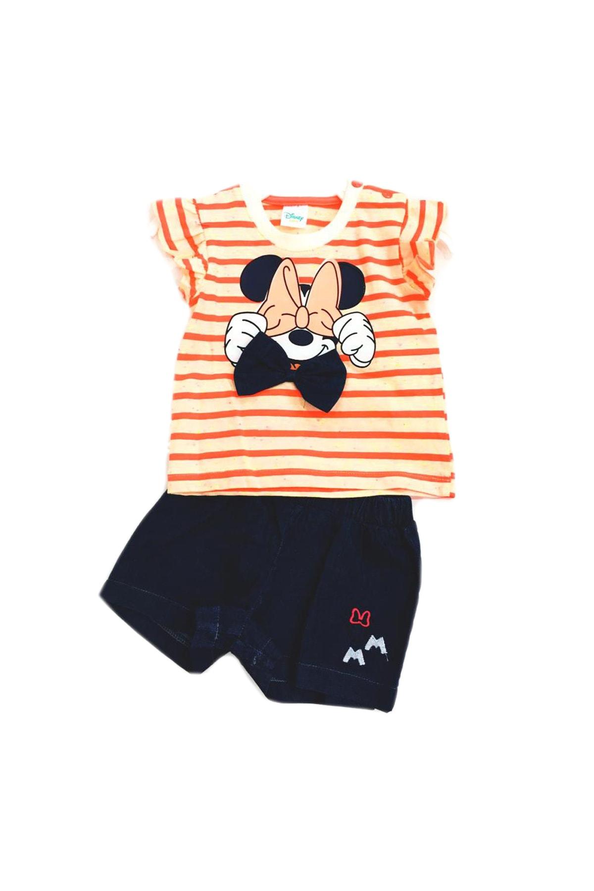 Disney Mickey Mouse Minie Mouse Disney Kız Çocuk Şortlu Takım 6-24 Ay 1