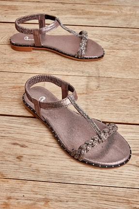 Bambi Platin Kadın Sandalet L0512027736