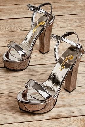 Bambi Kurşun Kadın Abiye Ayakkabı L0527052039
