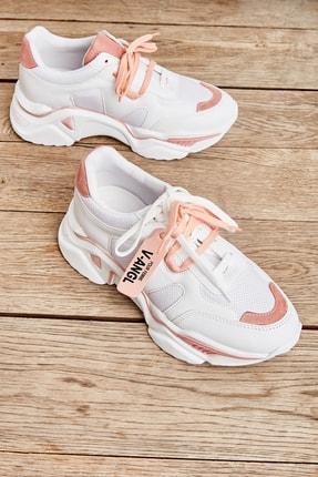 Bambi Beyaz Pudra Kadın Sneaker K01512438309