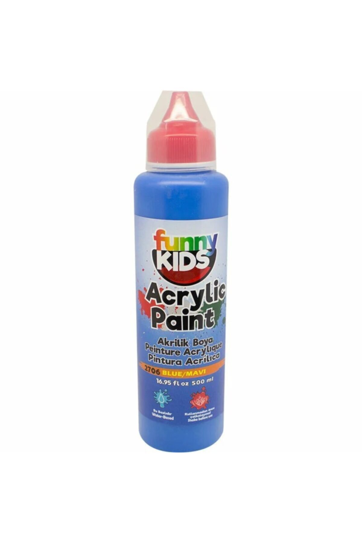 Rich Funny Kids Akrilik Boya 500ml - 2706 Mavi 1