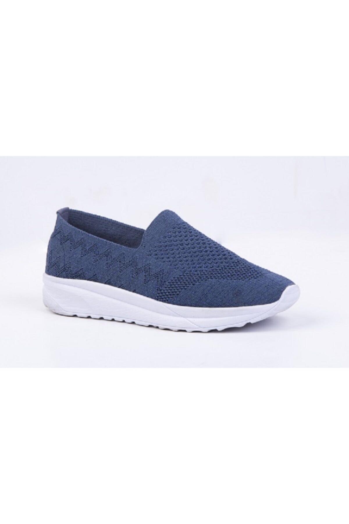 DR SOFT Kadın Lacivert Ortopedik Yürüyüş Ayakkabısı Tekstil 1