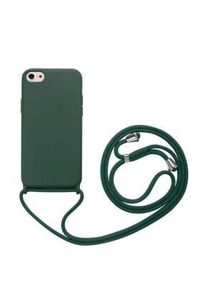 zore Apple Iphone 7 Plus Kılıf Silikon Ipli Boyun Askılı Pürüzsüz Ropi