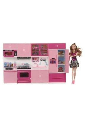 Kayyum Oyuncak 4lü Mutfak Seti Barbie Li Sesli Ve Işıklı